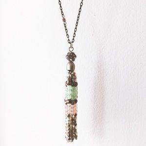 Anthropologie • Tassel Necklace
